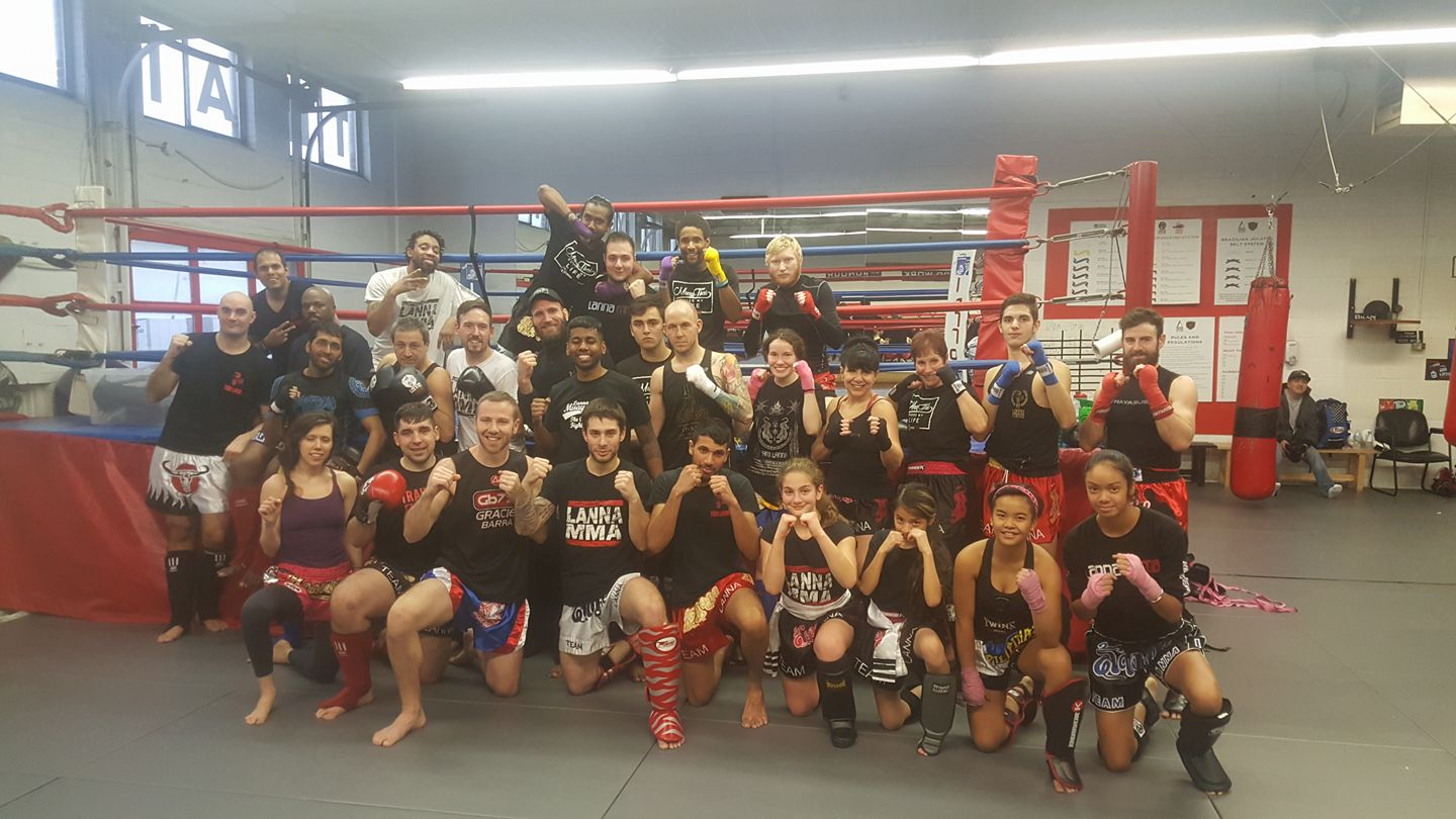 Tony Manoharan Muay Thai Seminar at Lanna MMA Group Picture