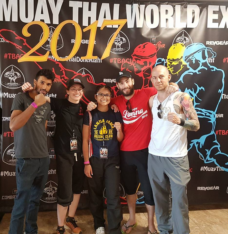 The Lanna MMA Team at The Thai Boxing Association 2017 Muay Thai Classic