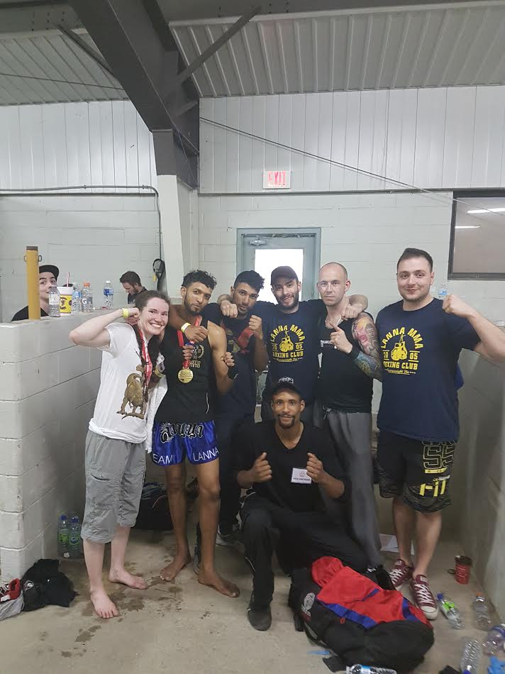 The Lanna MMA Team at the Muay Thai Ontario Provincial Amateur Muay Thai Tournament