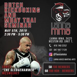 James McSweeney seminar at Lanna MMA